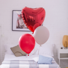 "A cloud of balloons ""For you"""