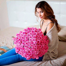 101 pink roses